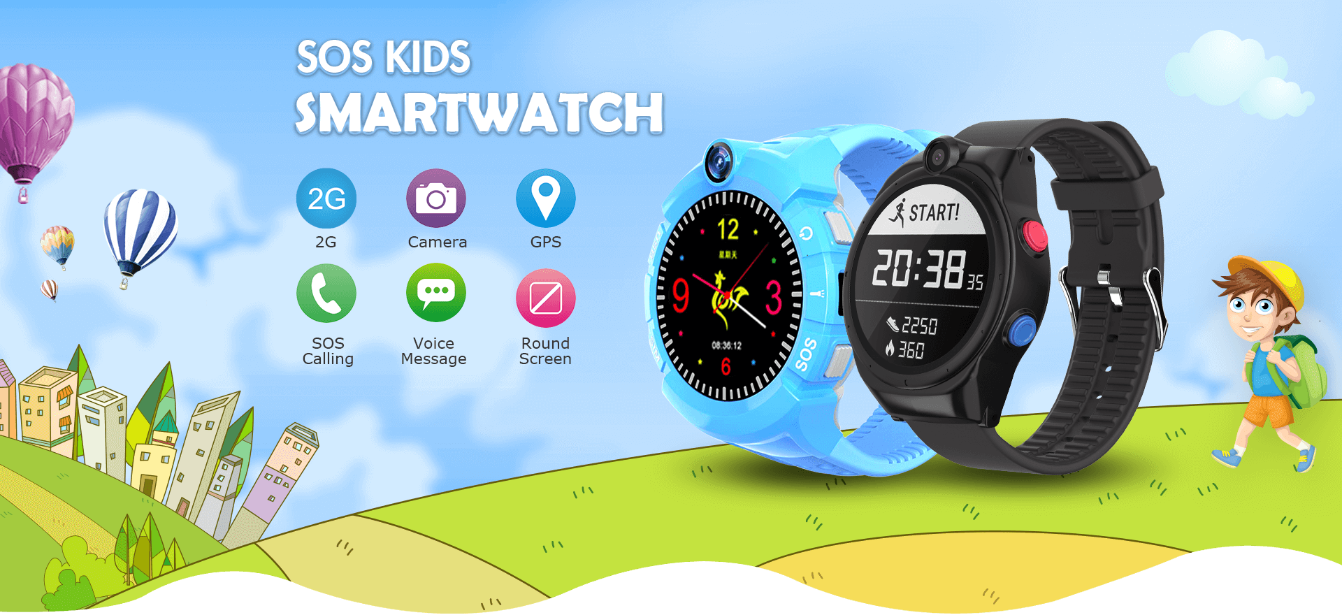 SOS Kid Smartwatch